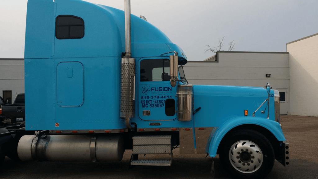 a fusiontransportation truck for white glove shipping